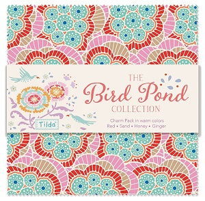 Tilda - Bird Pond - Charm Pack in Warm Colours 40 pieces