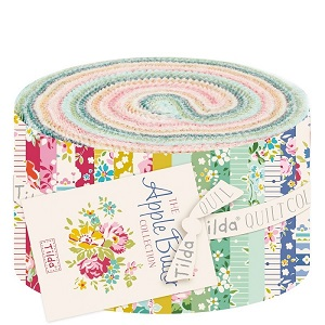 Tilda Apple Butter - 2.5 inch Fabric Roll of 30 pieces