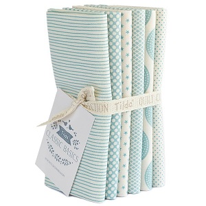 Tilda Classic Basics - Fat Quarter Bundle of 6 Pieces in Light Blue