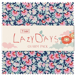 Tilda LazyDays - 5 Inch Charm Pack of 40 pieces