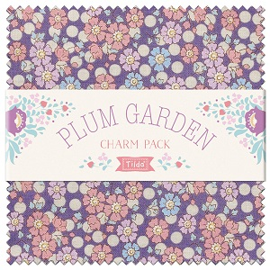 Tilda Plum Garden - 5 Inch Charm Pack of 40 pieces
