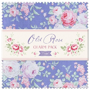 Tilda Old Rose Charm Pack of 40 pieces