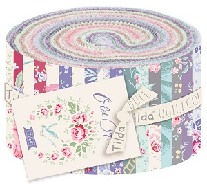 Tilda Old Rose 2.5 inch Fabric Roll of 40 pieces