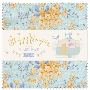 Tilda Happy Campers 5 Inch Charm Pack of 40 pieces