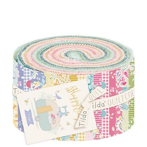 Tilda Happy Campers 2.5 inch Fabric Roll of 40 pieces