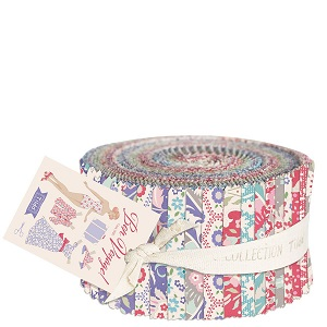 Tilda Bon Voyage 2.5 inch Fabric Roll of 40 pieces