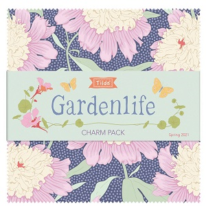 Tilda Gardenlife 5 Inch Charm Pack of 40 pieces *** PRE-ORDER - ARRIVING MAY 2021 ***