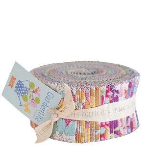 Tilda Gardenlife 2.5 inch Fabric Roll of 40 pieces *** PRE-ORDER - ARRIVING MAY 2021 ***