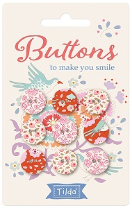 Tilda - Bird Pond - Buttons to make you smile 15mm