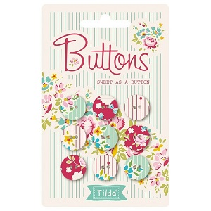 Tilda Apple Butter - Buttons Sweet as a Button 15mm