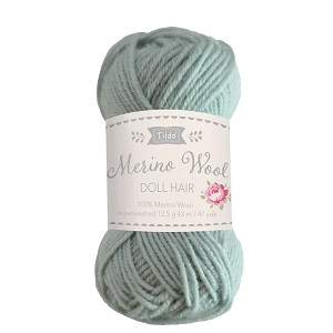 Tilda Merino Wool Yarn for Doll Hair in Sage