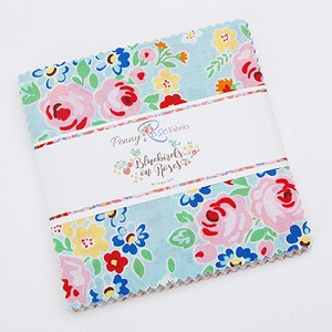 Penny Rose Fabrics - Bluebirds on Roses - 5 Inch Stacker 42 Pieces *** MORE ARRIVING SOON - SIGN UP TO THE WAITING LIST ***