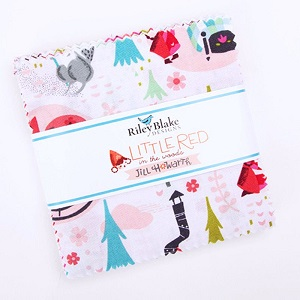 Riley Blake Designs - Little Red in the Woods - 5 Inch Stacker 42 Pieces