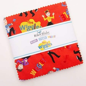 Riley Blake Designs The Wiggles Ready Steady Wiggle! - 5 Inch Stacker 42 Pieces