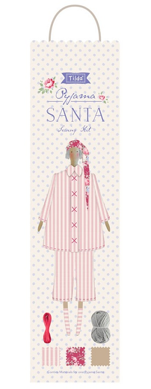 Tilda Old Rose Sewing Kit Pyjama Santa