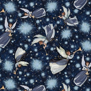 Springs Creative - Christmas Nativity Angel Star Toss  *** FAT QUARTER ***