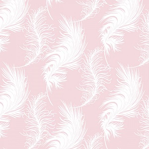 Camelot Fabrics - The Grace Collection by Laura Ashley - Plume in Light Pink *** REMNANT PIECE 91CM X 112CM ***