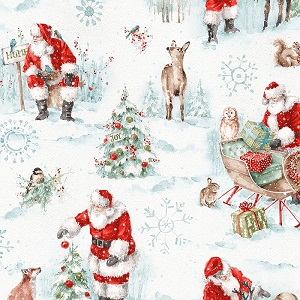 Christmas Wilmington Prints A Magical Christmas Allover Large Print in White