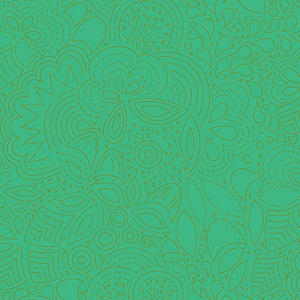 SUN PRINT 2019 GREEN FLORAL Fabric by Alison Glass by Makower QUILTING tonal