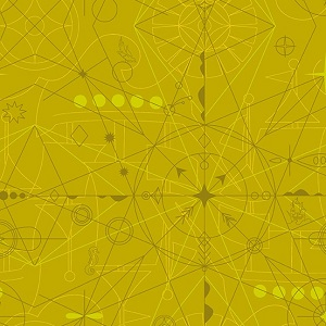 Andover Fabrics - Sun Print 2018 Compass in Chartreuse