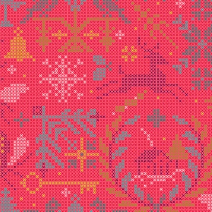 Andover Fabrics Holiday Crossed in Fruitcake