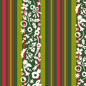 Andover Fabrics Holiday Stripe in Mistletoe