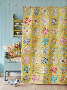 Tilda Apple Butter Quilt Kit - Scrapflower Quilt in Sunny Yellow