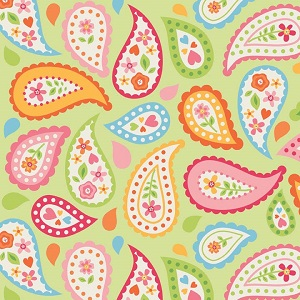 Riley Blake Designs - My Sunshine Paisley in Green