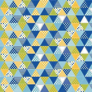 Riley Blake Designs Summer Celebration Triangle Quilt in Blue