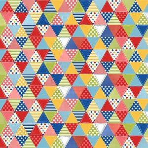 Riley Blake Designs Summer Celebration Triangle Quilt in Multi