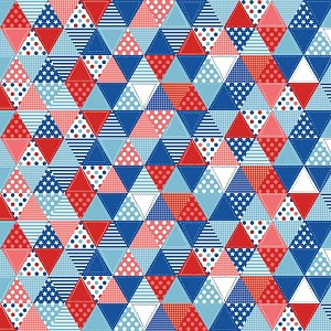 Riley Blake Designs Summer Celebration Triangle Quilt in Red