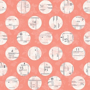 Riley Blake Designs - Sew Charming Circles in Coral