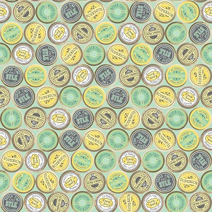 Riley Blake Designs - Sew Charming Spools in Mint