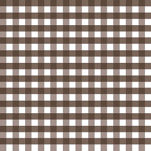 Riley Blake Designs - 1/2 Inch Large Gingham in Brown