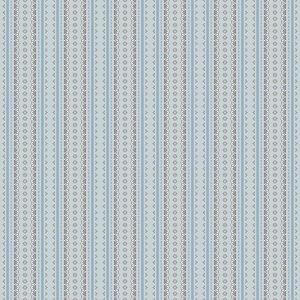 Penny Rose Fabrics - Forget Me Not Stripe in Blue *** REMNANT PIECE 37CM X 112CM ***