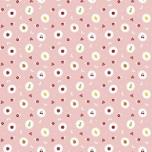 Riley Blake Designs - Sweet Orchard Scallop in Pink