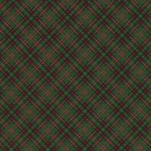 Christmas Timeless Treasures Plaid in Green