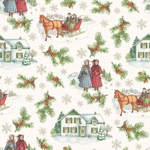 Penny Rose Fabrics - Anne of Green Gables Christmas - Main Beige