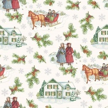 Penny Rose Fabrics - Anne of Green Gables Christmas - Main Grey