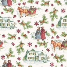 Penny Rose Fabrics - Anne of Green Gables Christmas - Main Red