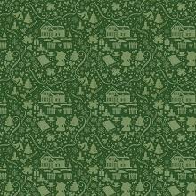 Penny Rose Fabrics - Anne of Green Gables Christmas - Silhouette Green