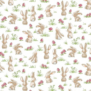 Timeless Treasures - Grass Bunnies