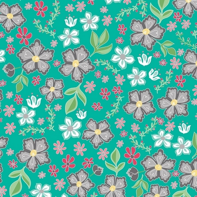 Riley Blake Designs - Flora & Fawn Main Teal