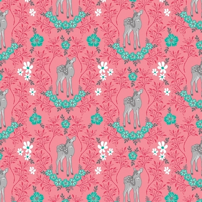 Riley Blake Designs - Flora & Fawn Deer Pink