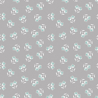 Riley Blake Designs - Flora & Fawn Floral Gray
