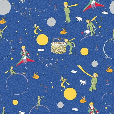 Riley Blake Designs - The Little Prince Main Navy