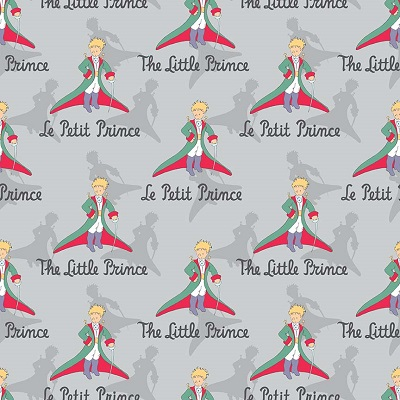 Riley Blake Designs - The Little Prince Title Gray