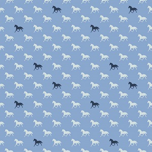 Riley Blake Designs - Derby Day Horses Navy