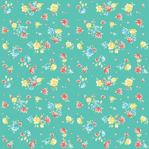 Penny Rose Fabrics - Bunnies and Blossoms Blossoms Teal