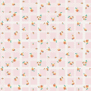 Penny Rose Fabrics - Bunnies and Blossoms Lace Pink